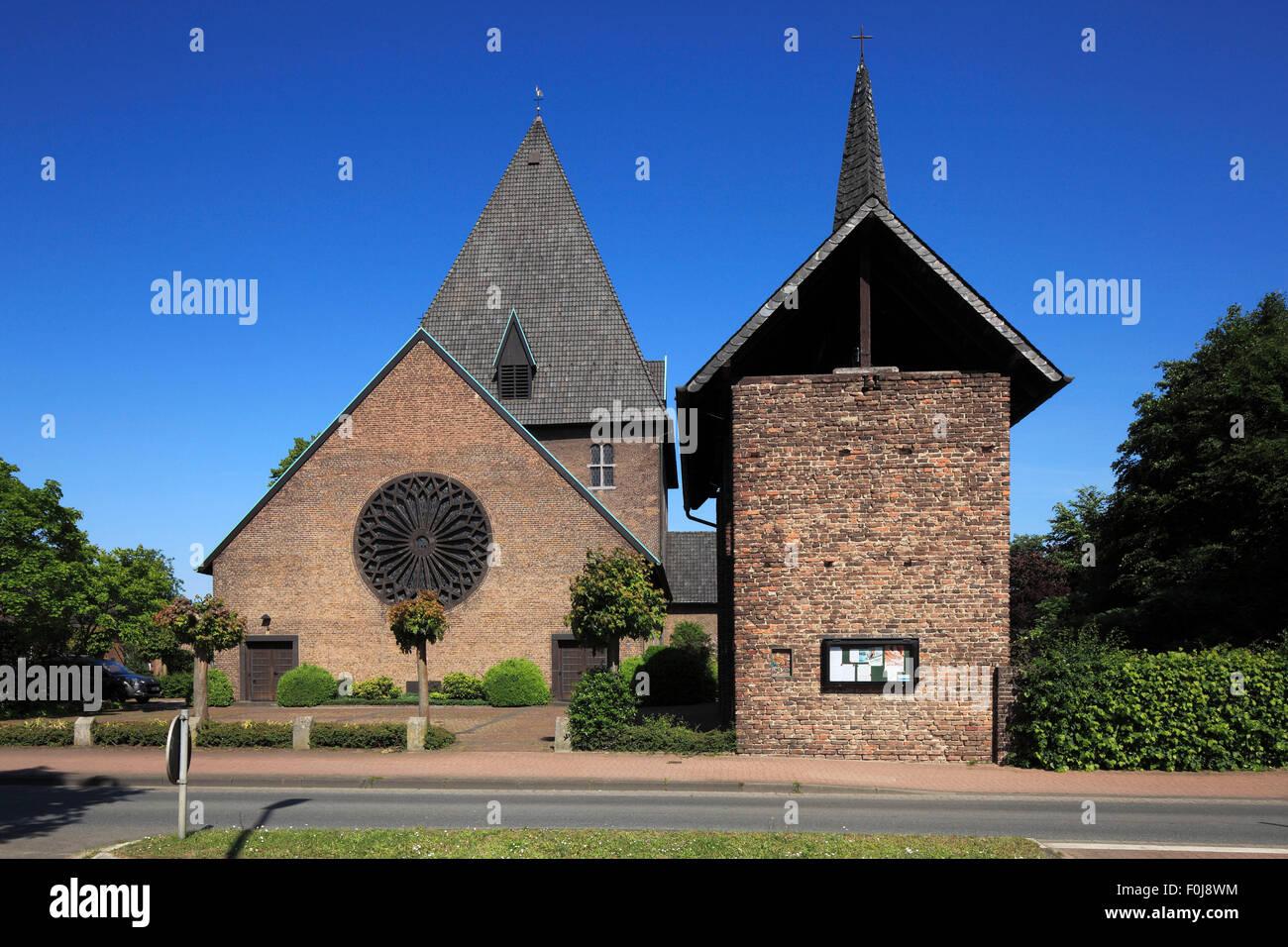 Katholische Kirche Ringenberg in Hamminkeln, Niederrhein, Nordrhein-Westfalen - Stock Image