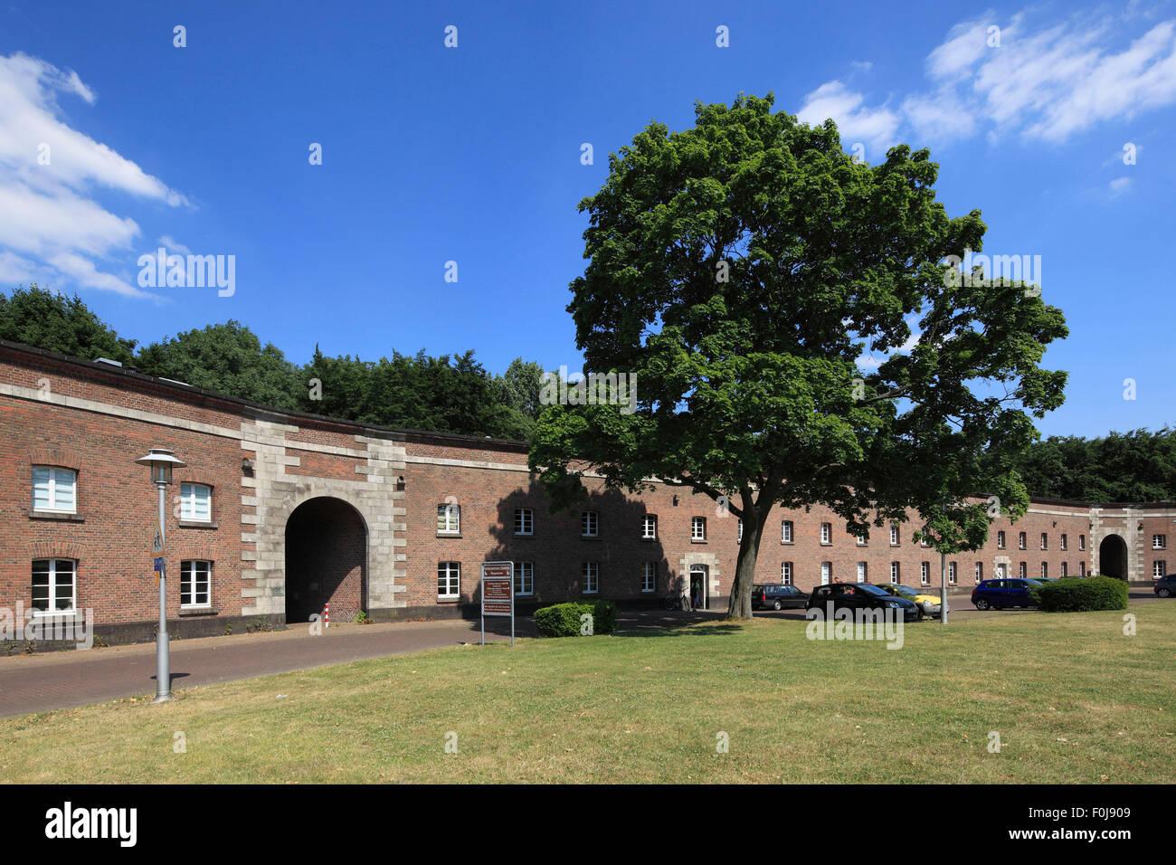 D-Wesel, Rhine, Lower Rhine, Rhineland, North Rhine-Westphalia, NRW, fortress city, garrison town, Citadel Wesel, - Stock Image