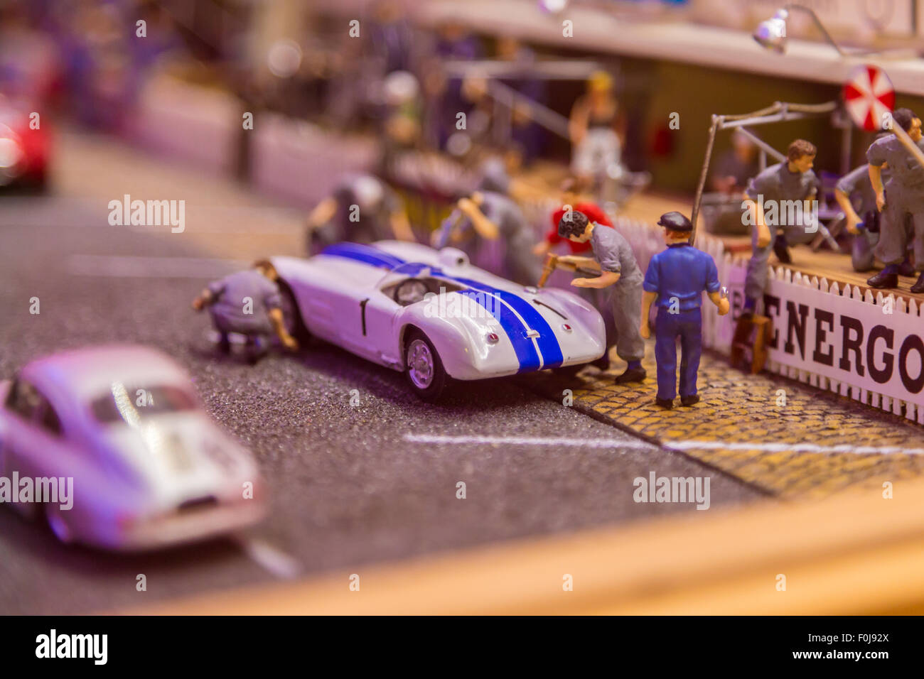 Car museum at Le Mans, France Stock Photo