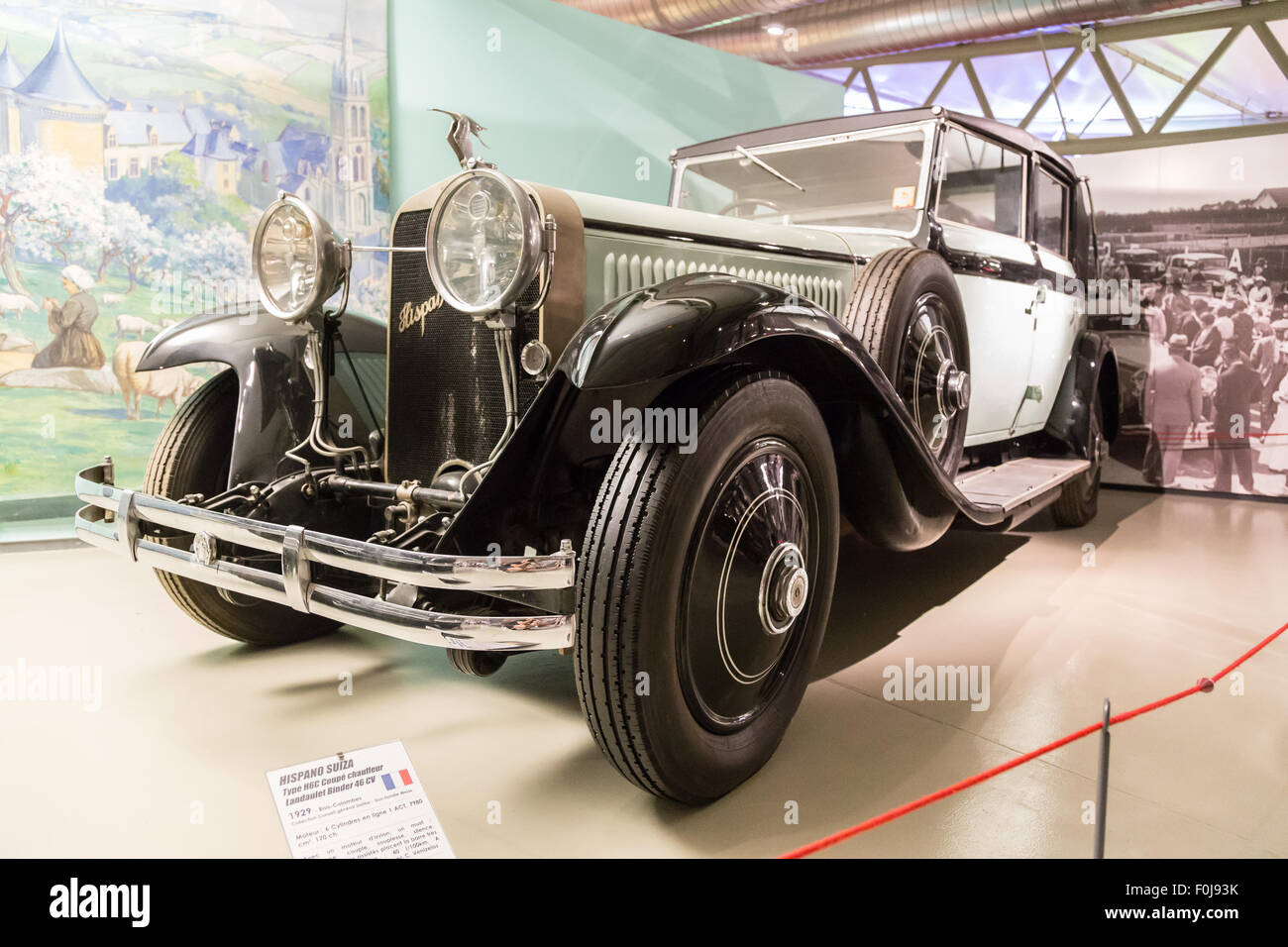 Car museum at Le Mans, France - Stock Image