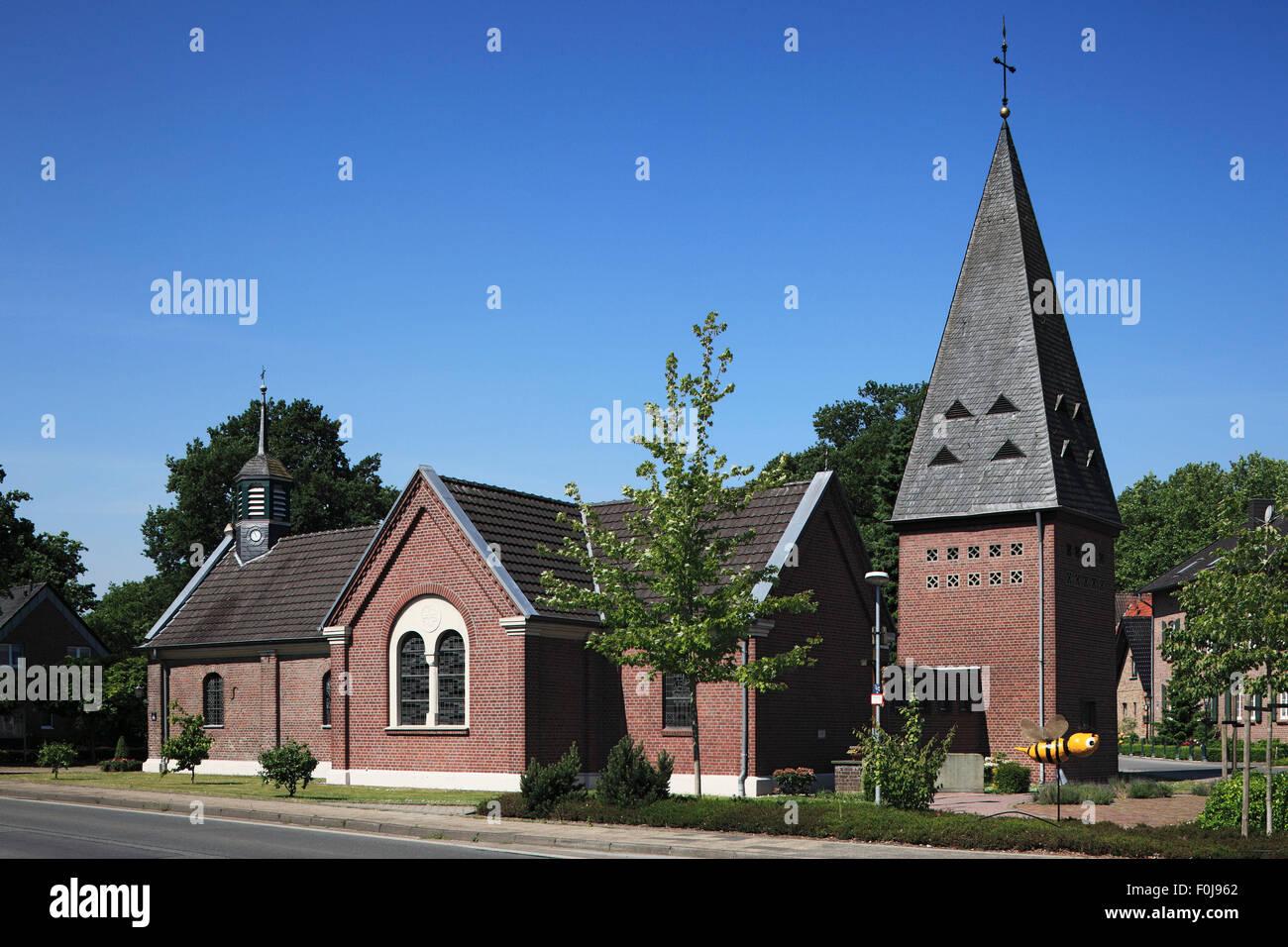 Kapelle Sankt Rochus in Geldern-Luellingen, Niederrhein, Nordrhein-Westfalen - Stock Image