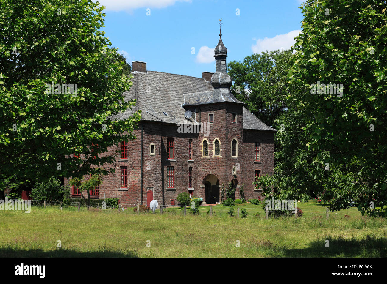 Herrenhaus Grotelaers in Geldern-Vernum, Niederrhein, Nordrhein-Westfalen Stock Photo