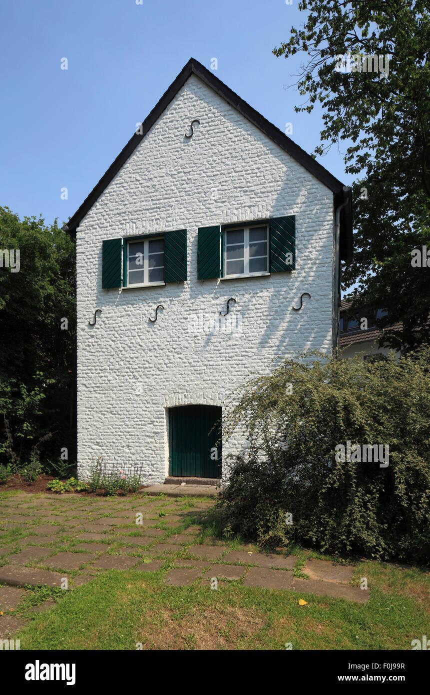 Das Gartenhaus an der Stadtmauer von Kempen, Niederrhein, Nordrhein-Westfalen - Stock Image