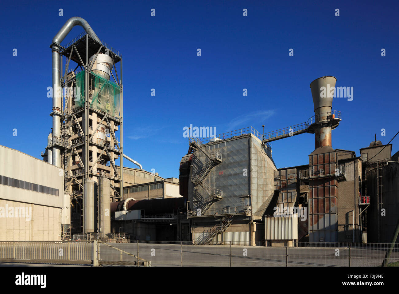 Bauindustrie, Phoenix Zementwerke Krogbeumker in Beckum, Muensterland, Nordrhein-Westfalen - Stock Image