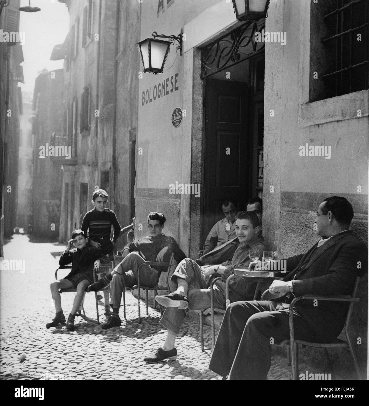Geography Travel Italy People Street Scene In Riva At