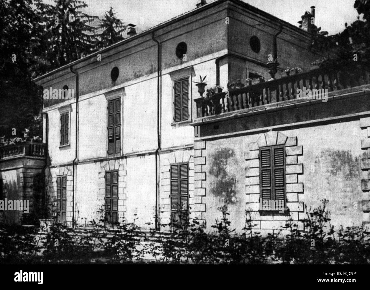 Verdi, Giuseppe, 10.10.1813 - 27.1.1901, Italian composer, his house in Sant' Agata near Busseto, Additional - Stock Image