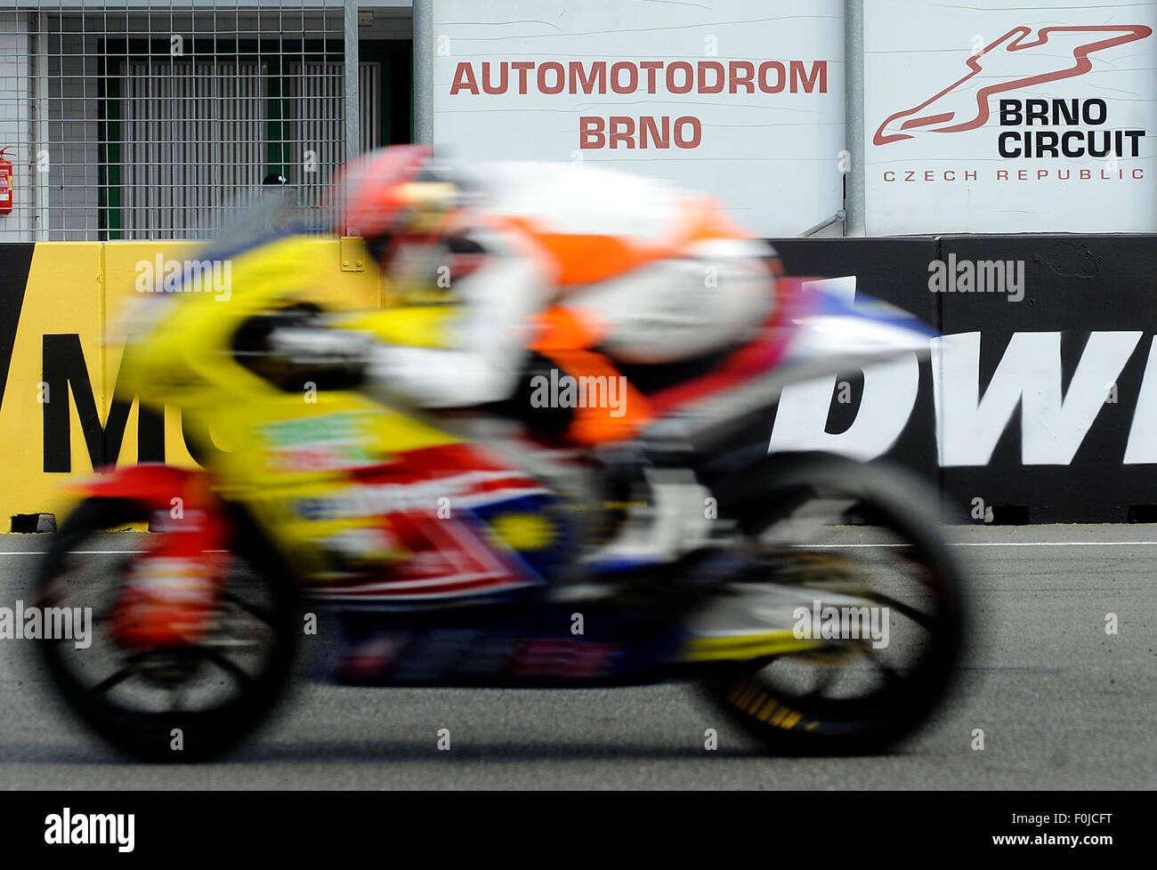 Brno, Czech Republic. 15th Aug, 2015. Grand Prix of the Czech Republic 2015, Moto2, qualification, Czech Republic, - Stock Image