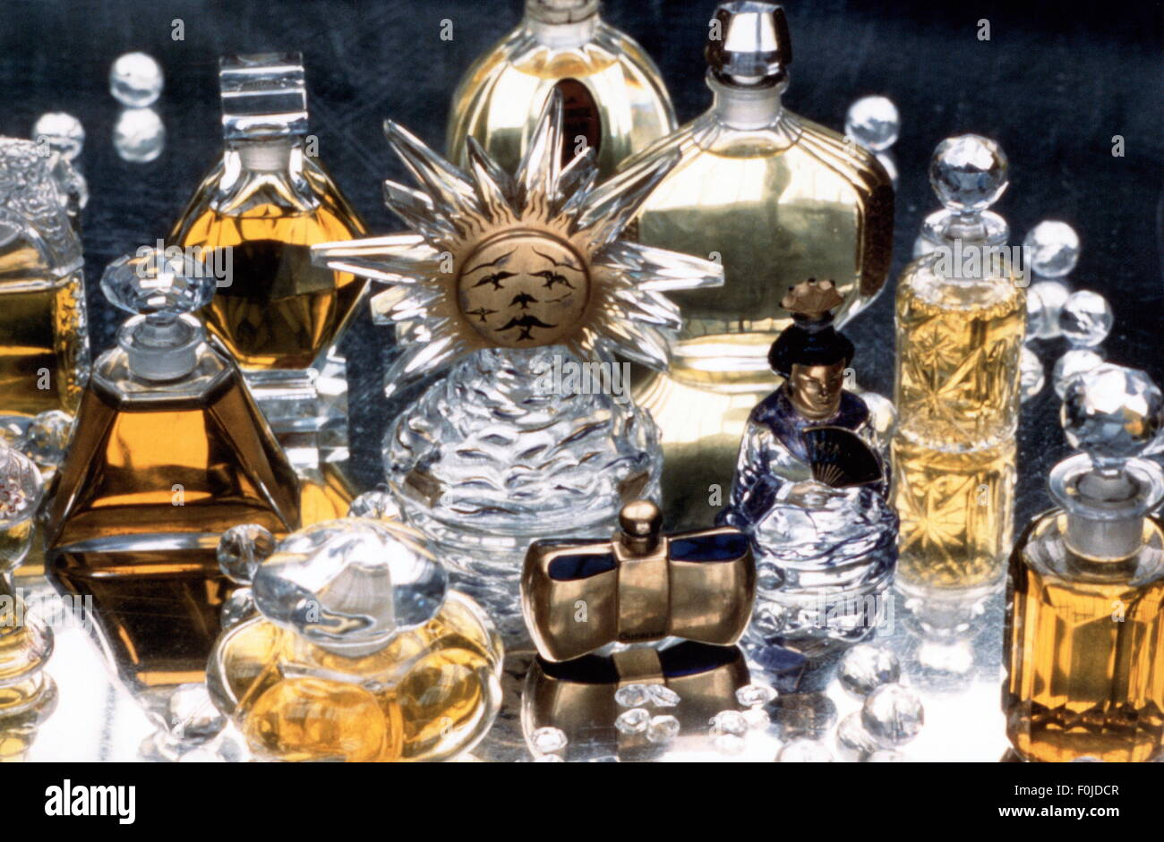 cosmetics, perfume, Baccarat cristal flacon, 1930s, , Additional-Rights-Clearences-NA - Stock Image