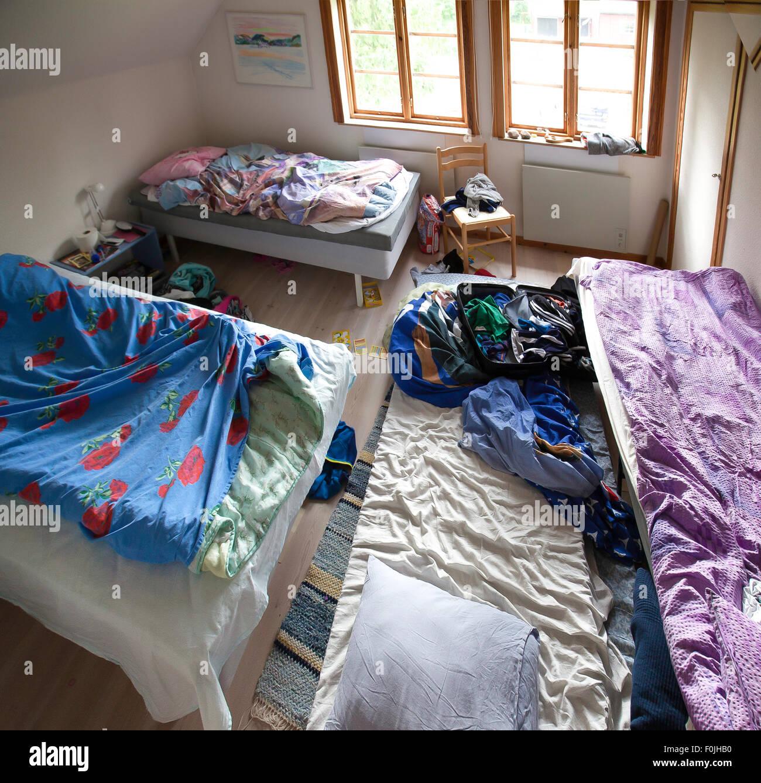 untidy room - Stock Image