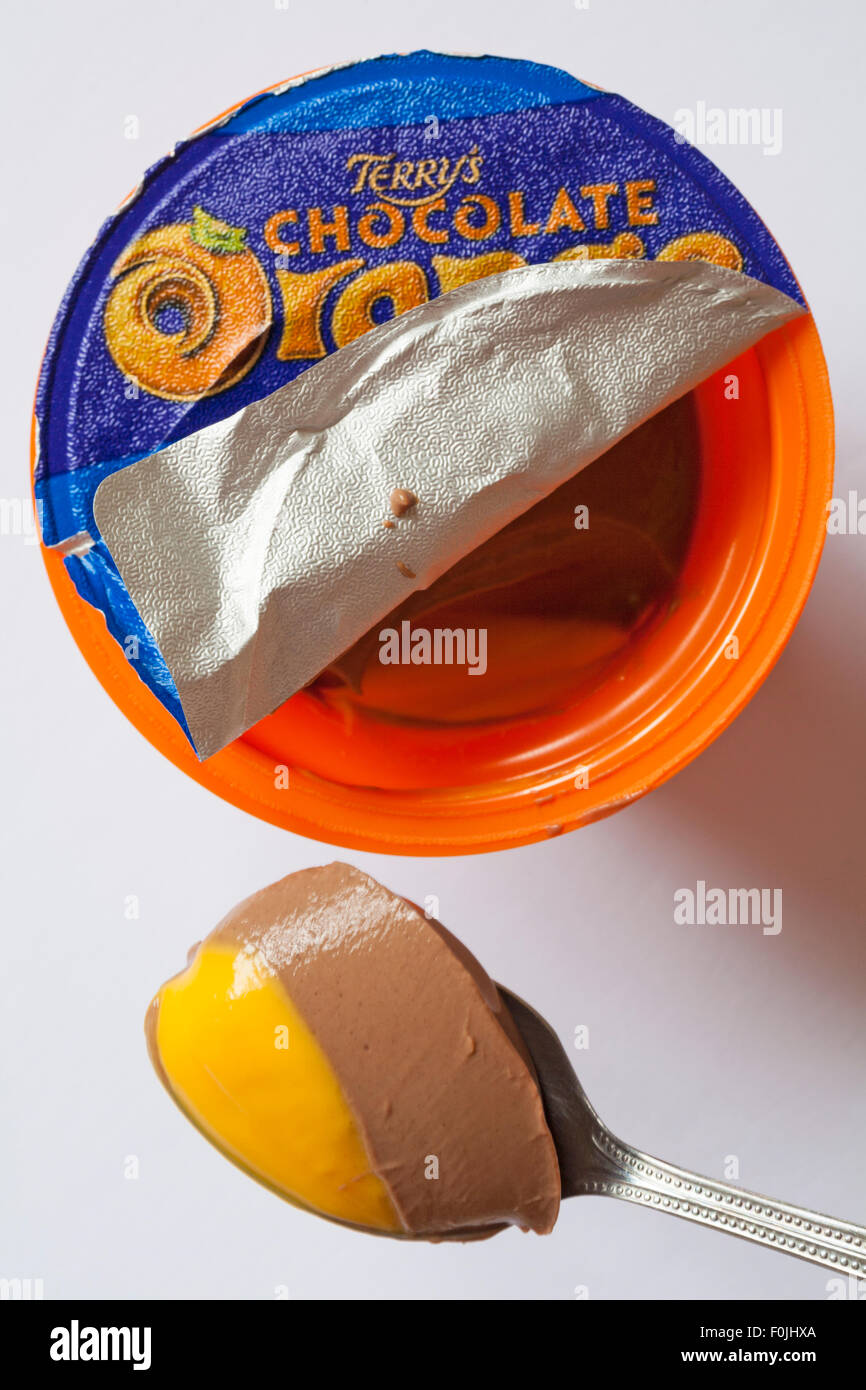 Terrys Chocolate Orange Pots Of Joy With Lid Peeled Back To