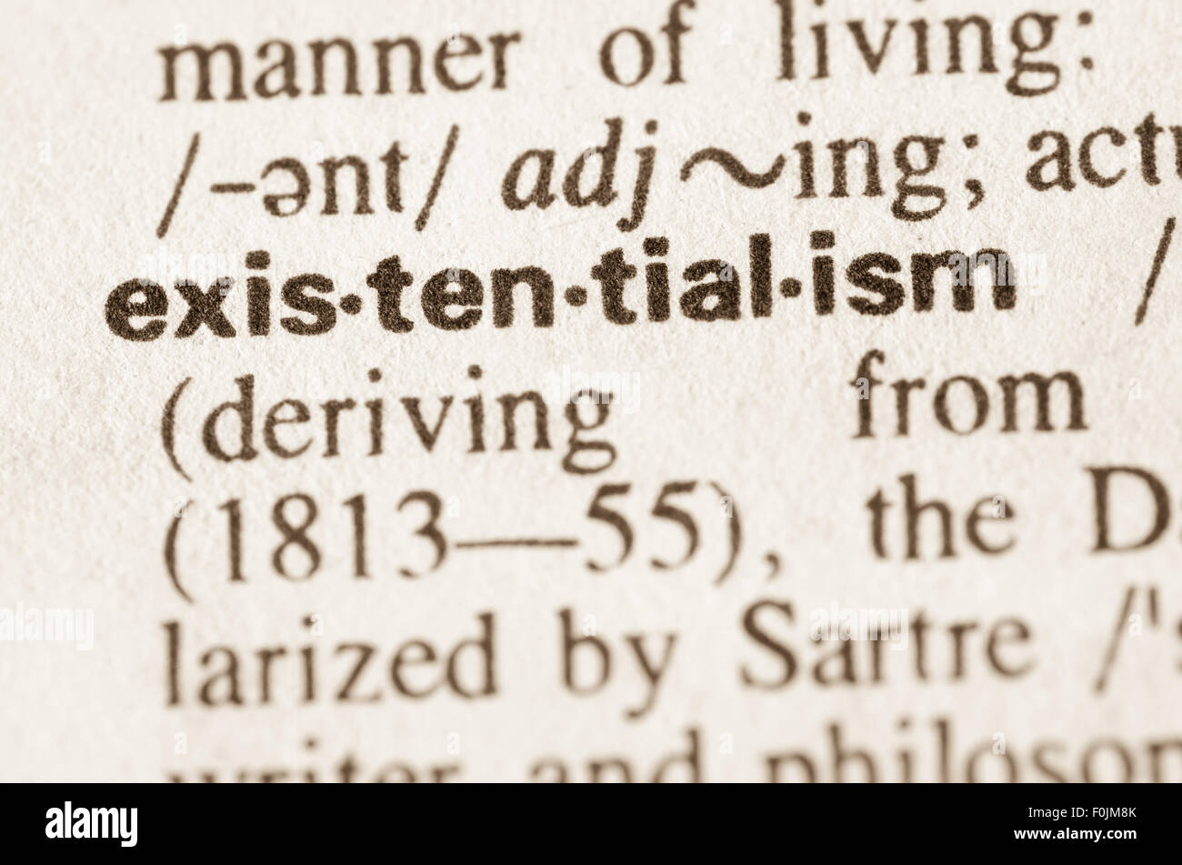 Awesome Definition Of Word Existentialism In Dictionary