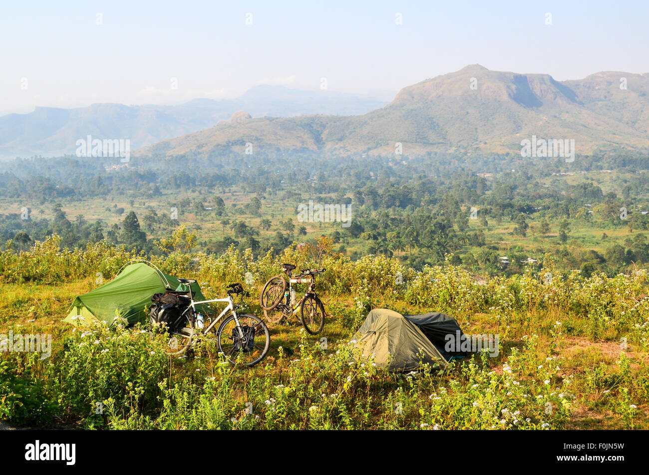 Camping in Cameroon - Stock Image