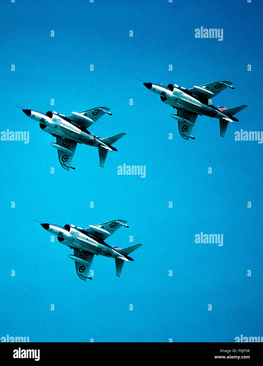 AJAXNETPHOTO - AIR - 3 SEA HARRIERS FROM 800 SQDN. IN FORMATION. PHOTO:VIV TOWNLEY/AJAX. 