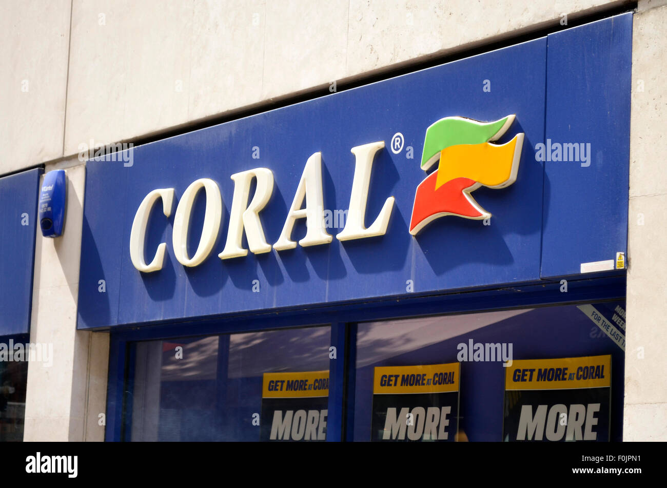 Coral shop front - Stock Image