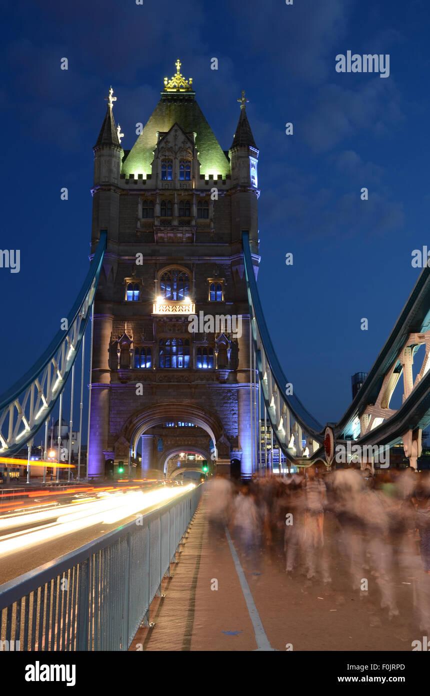 Tower Bridge, London, UK, Great Britain - Stock Image