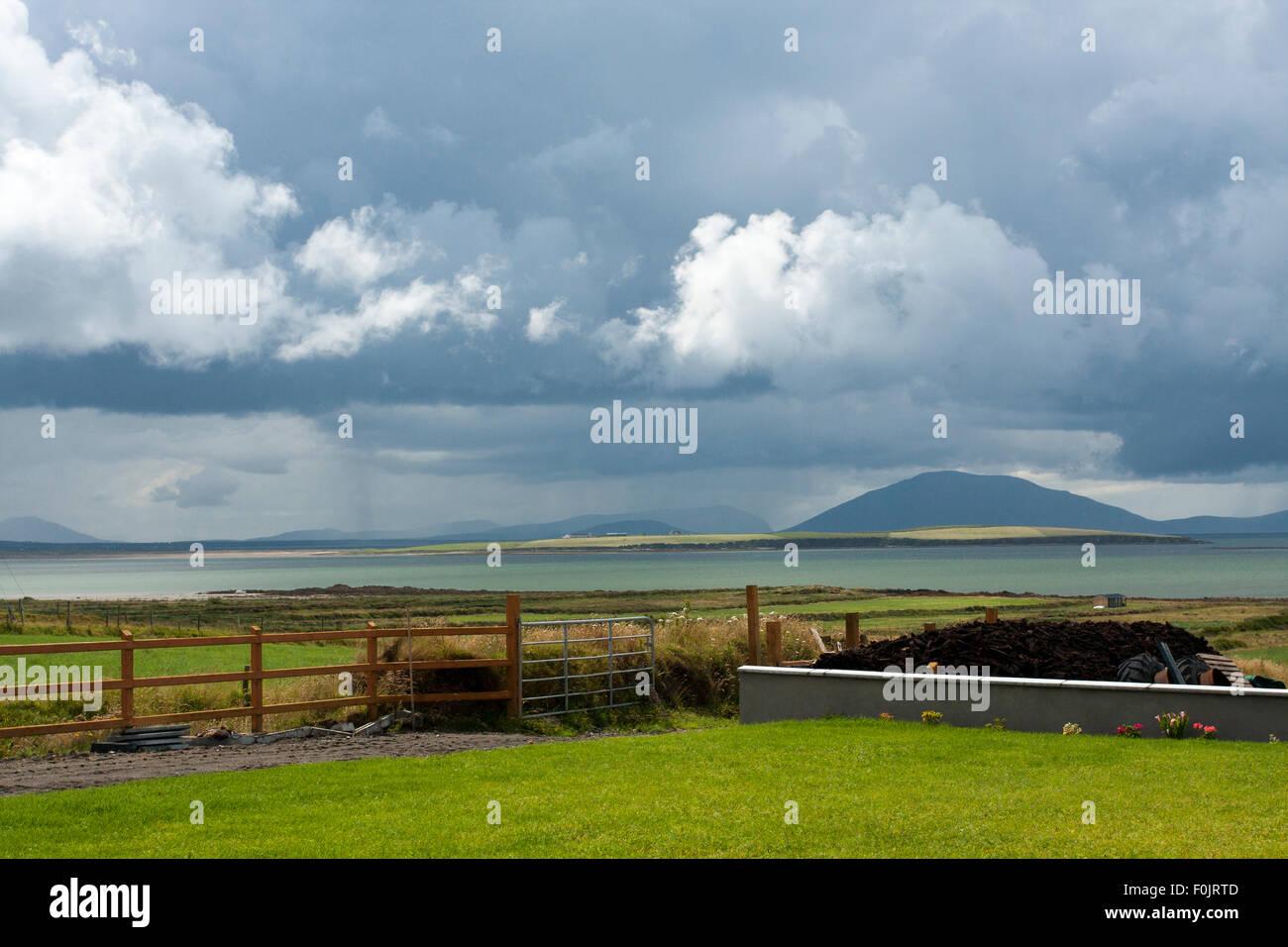Coastal scene in Belmullet, County Mayo, Ireland - Stock Image