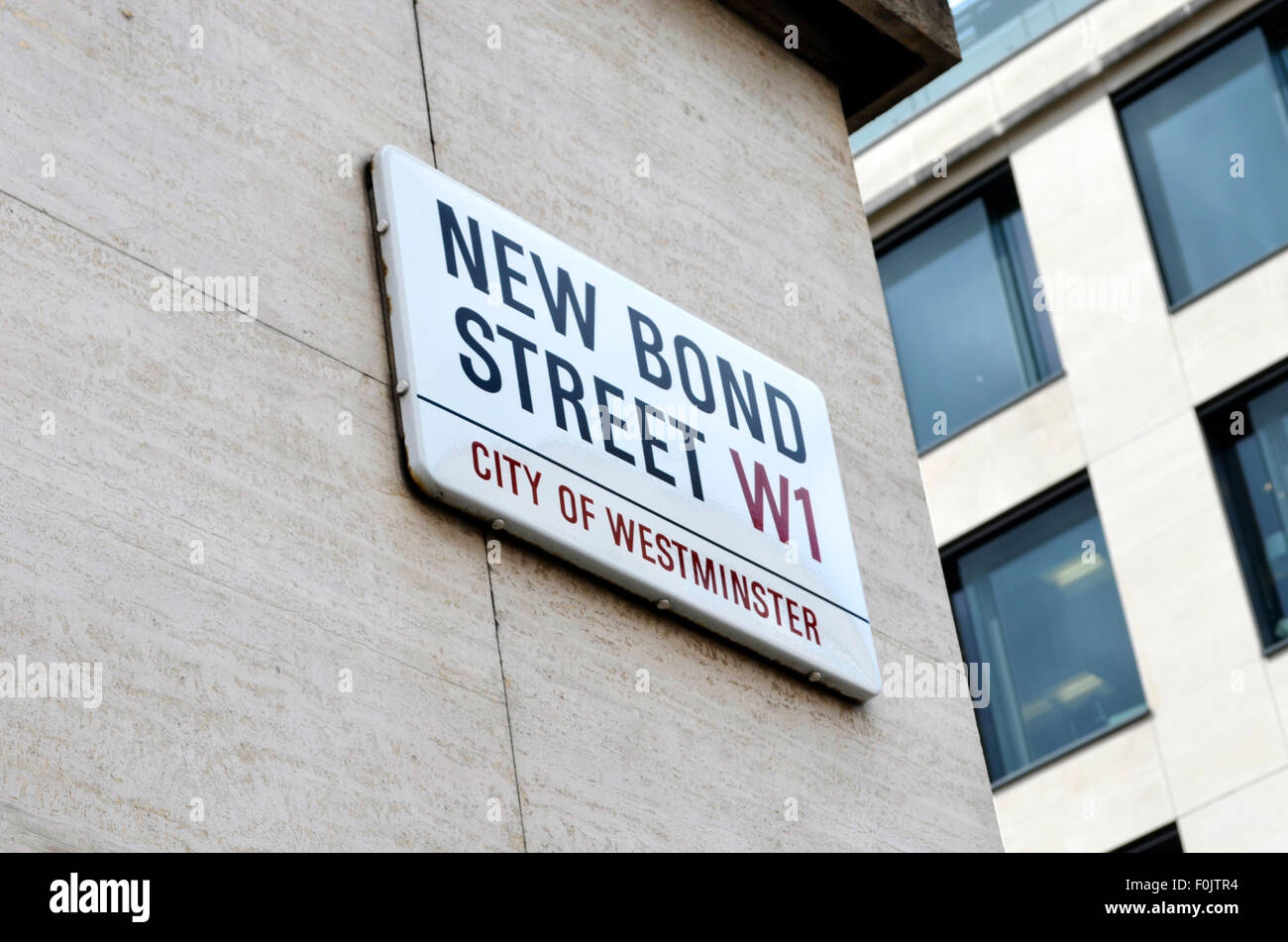 New Bond Street sign City of Westminster - Stock Image