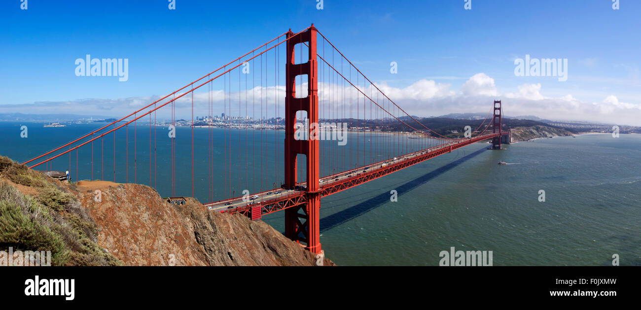 The Golden Gate Bridge, San Francisco, USA - Stock Image