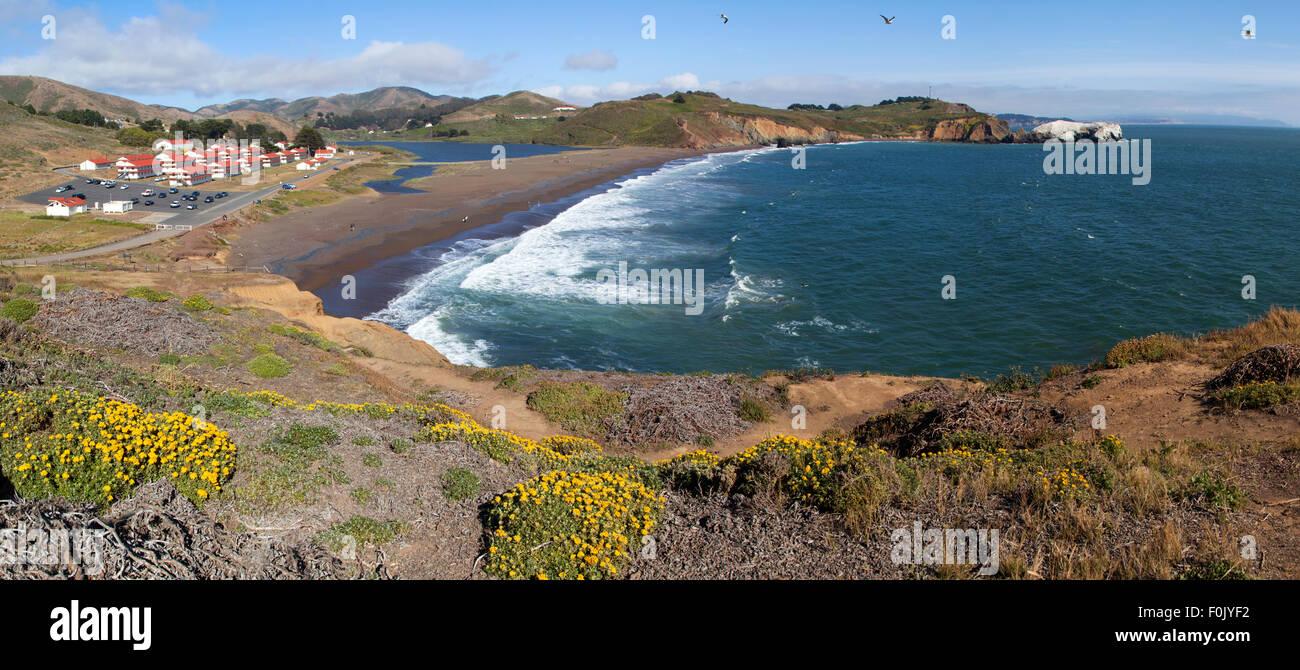 Rodeo Beach, Golden Gate National Recreation Area, San Francisco, USA - Stock Image
