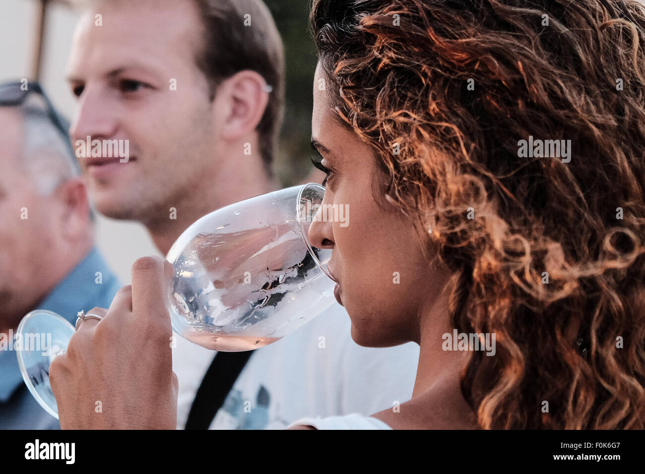 Jerusalem, Israel. 17th August, 2015. The Israel Museum hosts the annual Jerusalem Wine Festival at the Billy Rose Stock Photo
