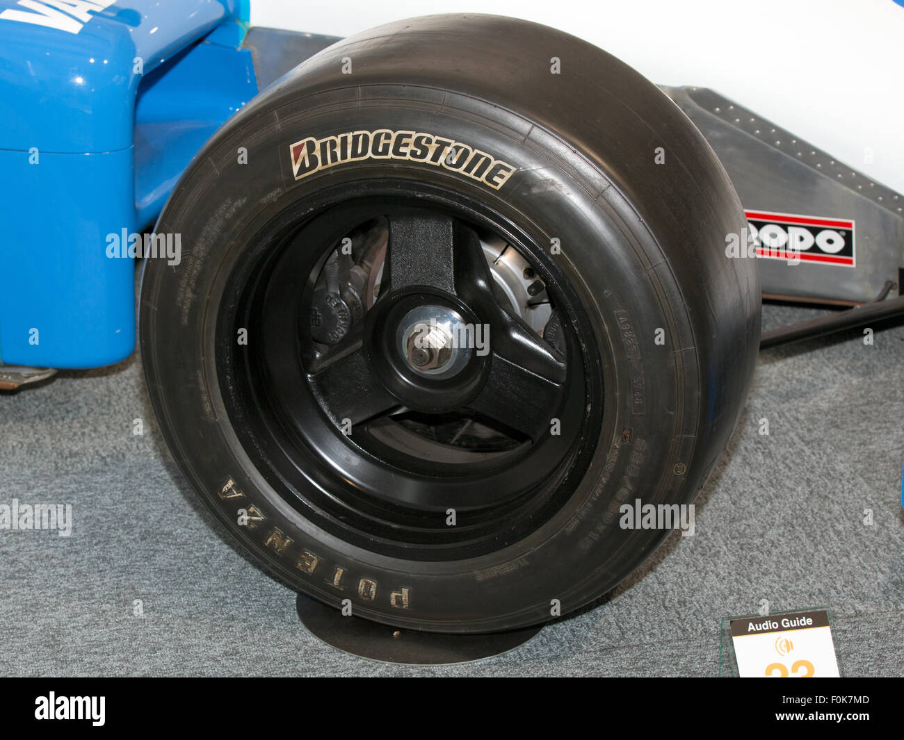 Ralt RH6-84 front-right tyre 2015 Honda Collection Hall - Stock Image
