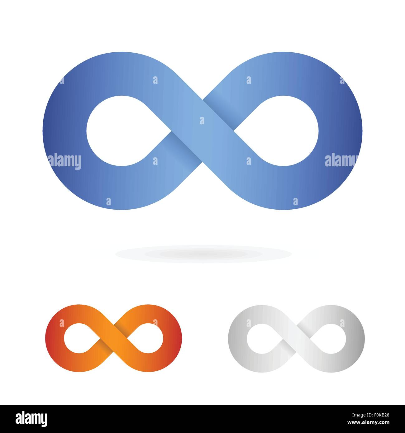 infinity sign icon vector illustration - Stock Image