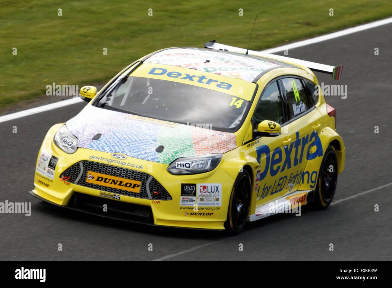 Alex Martin In His Dextra Racing Ford Focus St Oulton Park Btcc