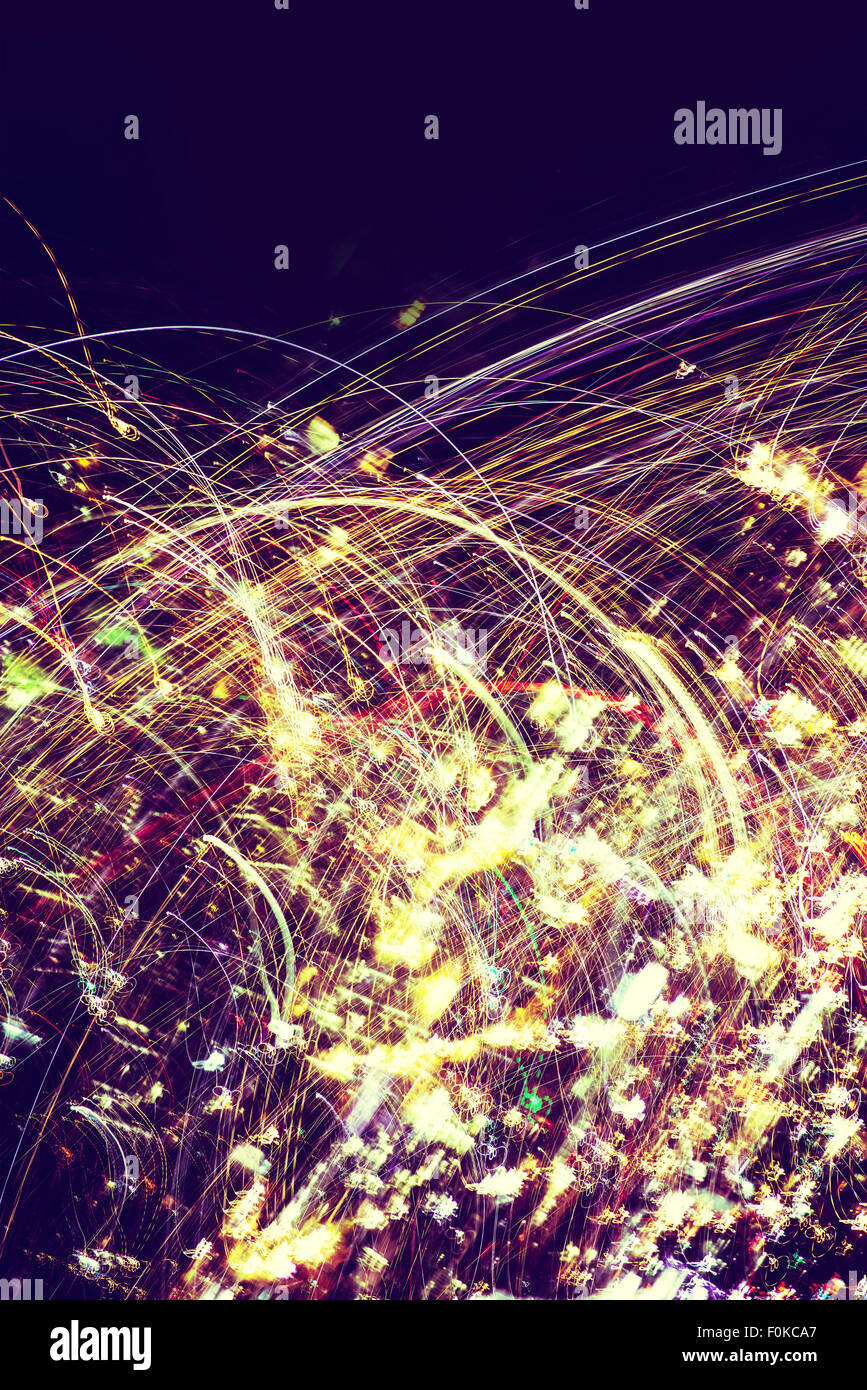 Sparky Particles Abstract Photo Background. Photo Abstraction. - Stock Image