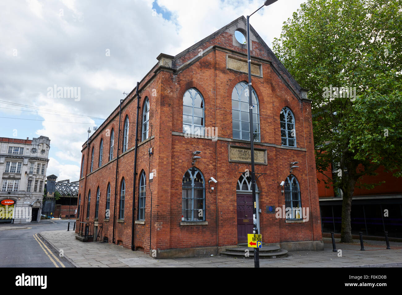 st matthews old sunday school building castlefield Manchester England UK - Stock Image