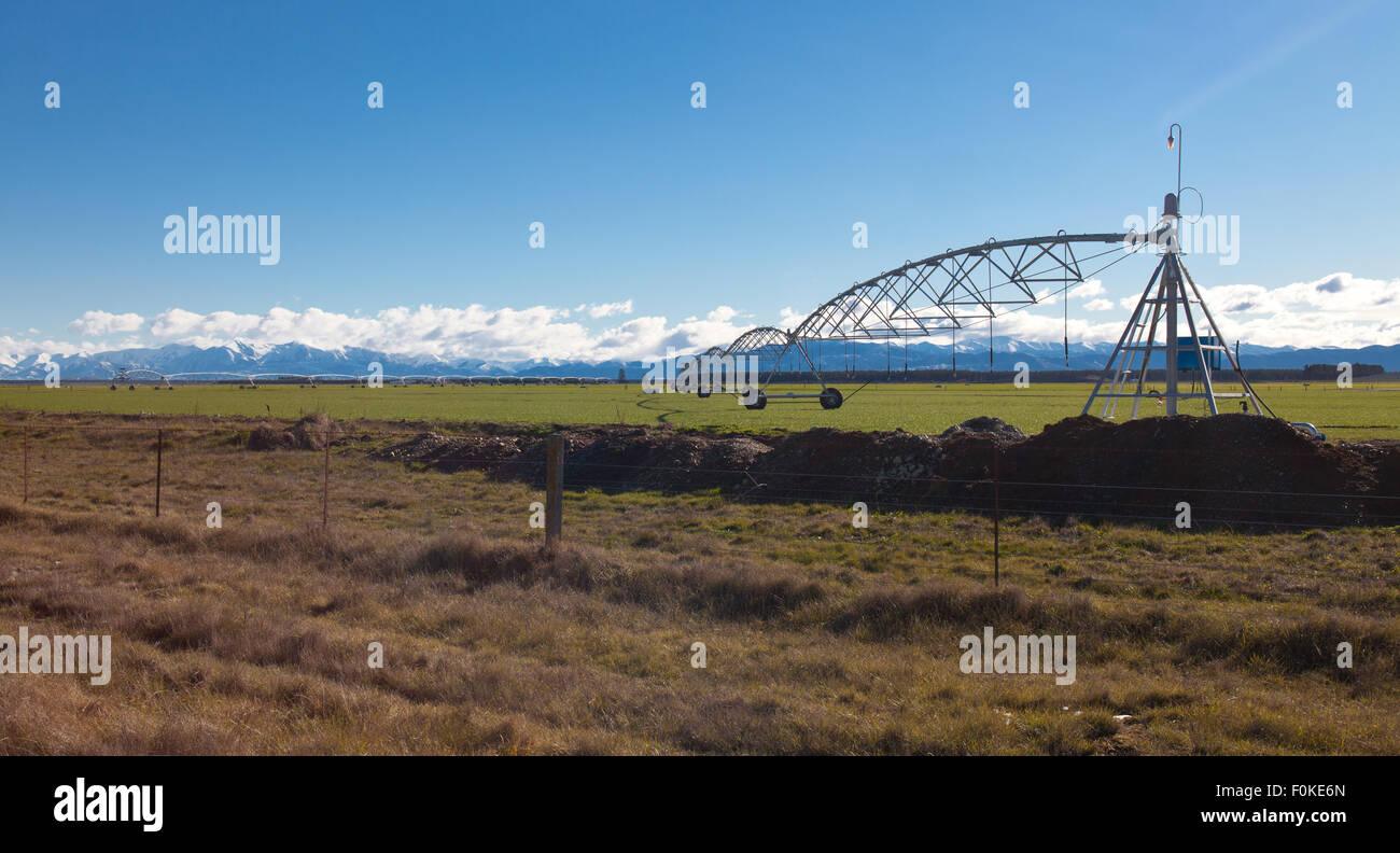Centre-pivot irrigation. - Stock Image