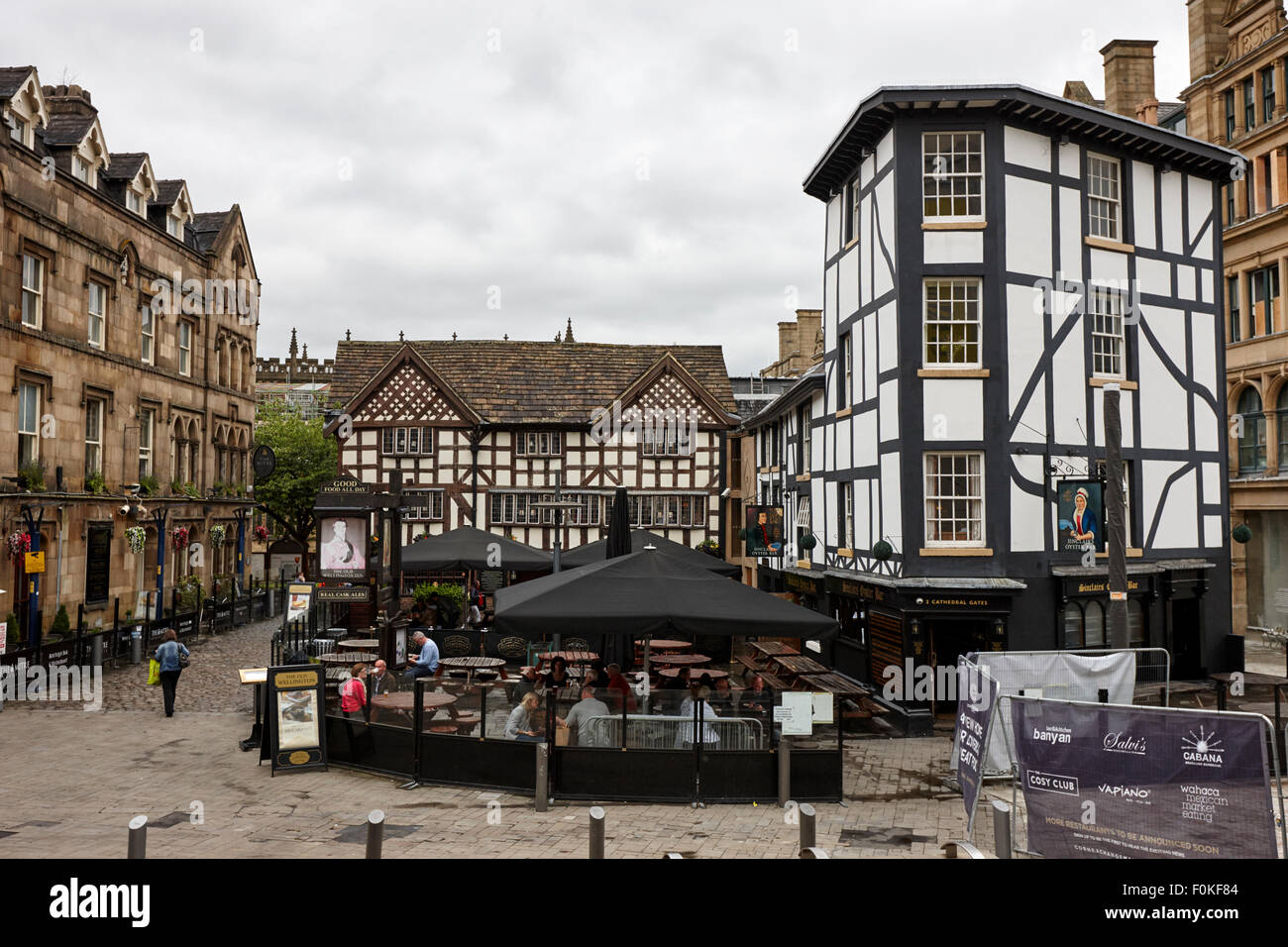sinclairs oyster bar and old wellington inn in shambles square Manchester England UK Stock Photo