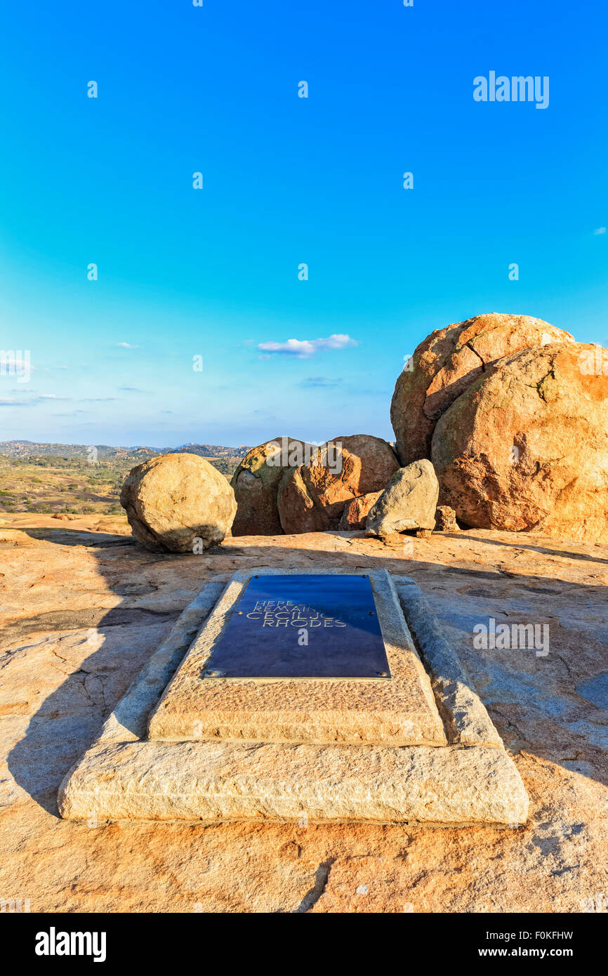 Africa, Zimbabwe, Matobo National Park, Tomb of Cecil Rhodes - Stock Image