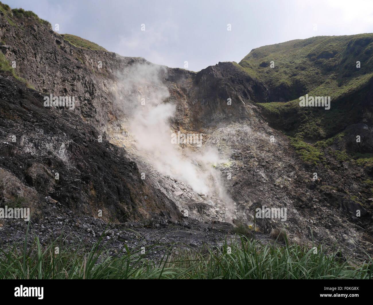 Taiwan, Taipeh, active volcano - Stock Image