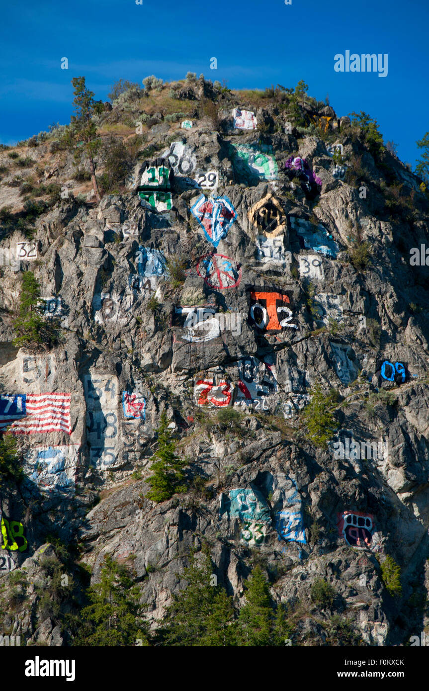 Numeral Rock, Entiat, Washington - Stock Image