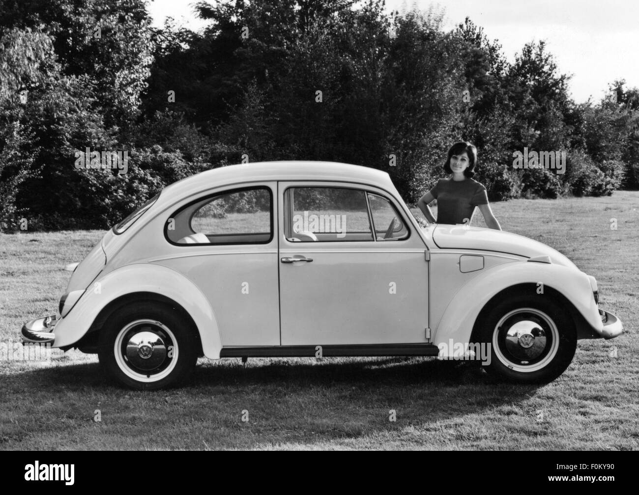 transport / transportation, car, vehicle variants, Volkswagen, VW 1200 beetle, side view, 1968, Additional-Rights Stock Photo