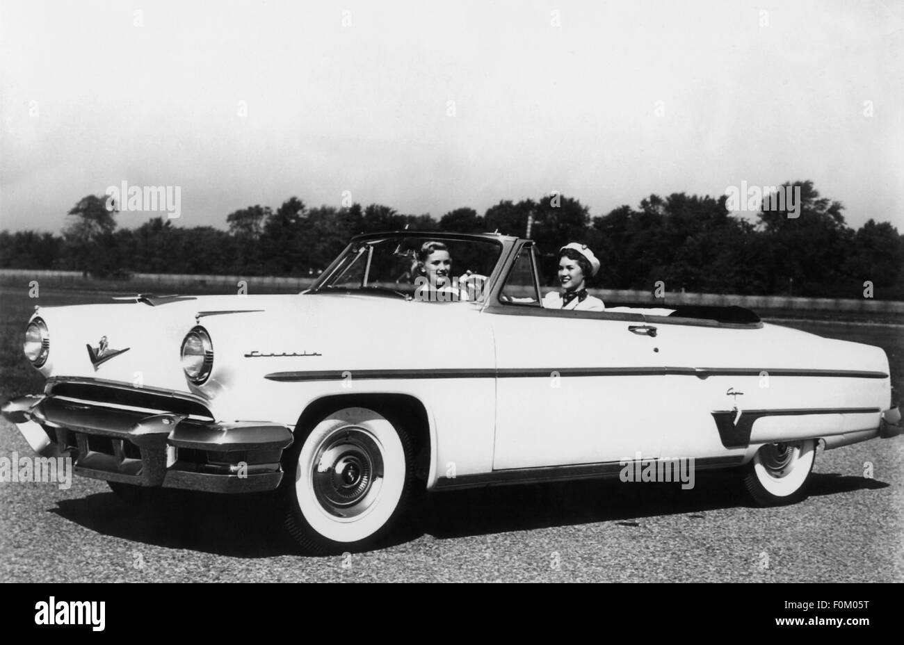 transport / transportation, car, vehicle variants, Lincoln Capri Special Custom Convertible, 1954, Additional-Rights - Stock Image