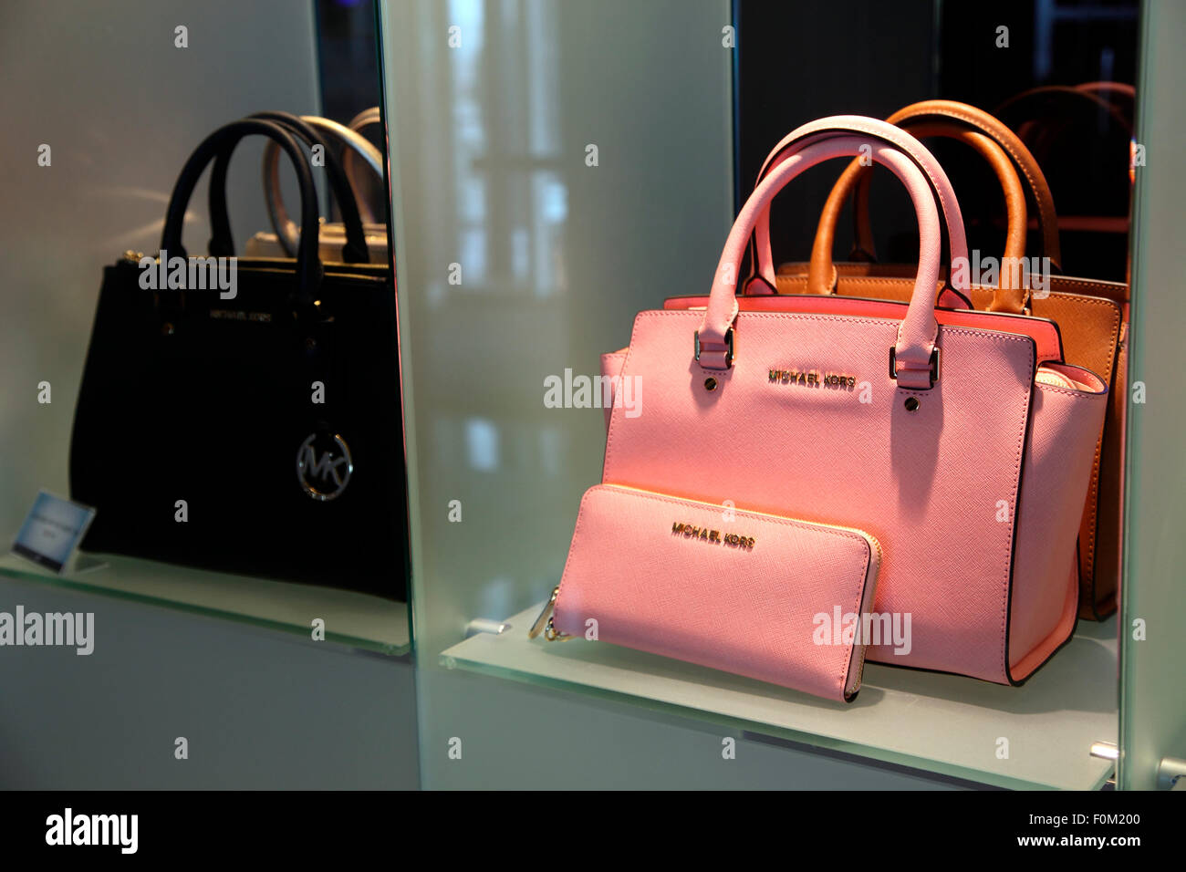 601b8d75c8 Michael Kors handbags on sale aboard MV Celebrity Silhouette Stock ...