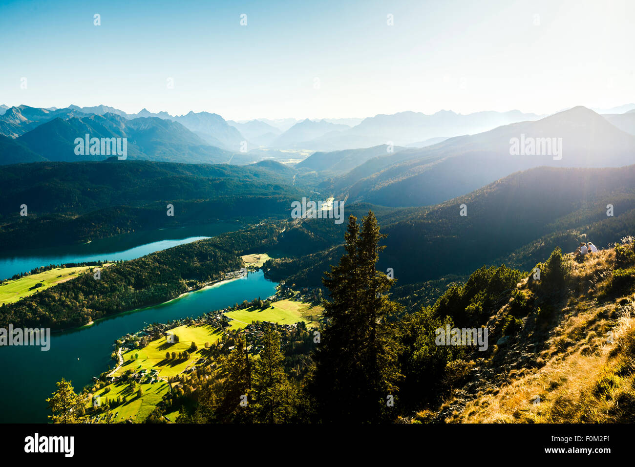 Walchensee and the Karwendel Mountains, Bavaria, Germany - Stock Image