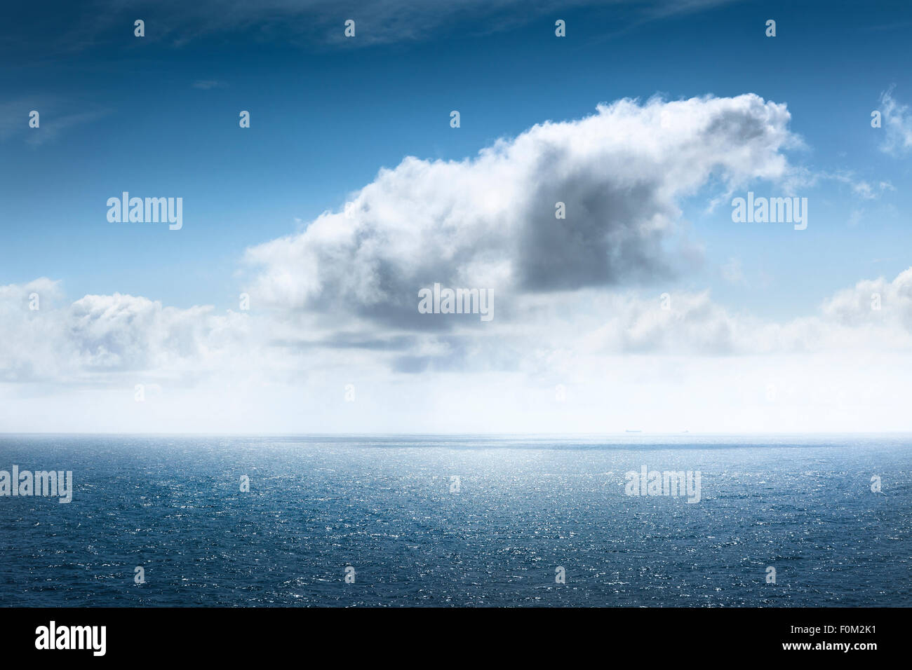 Clouds over the North Sea - Stock Image