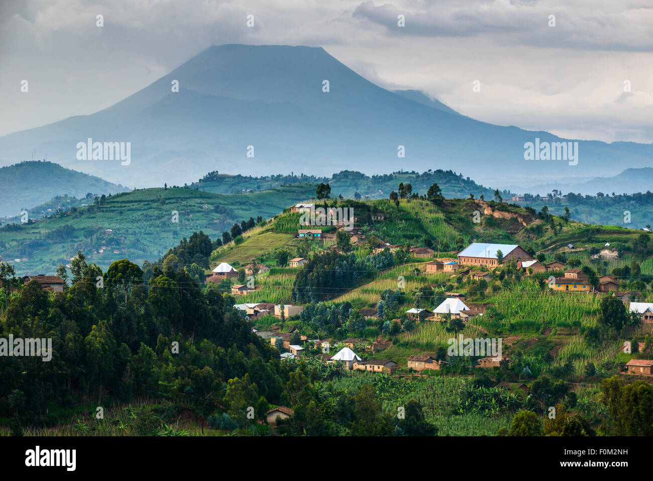View of the Virungas, Rwanda, Africa - Stock Image