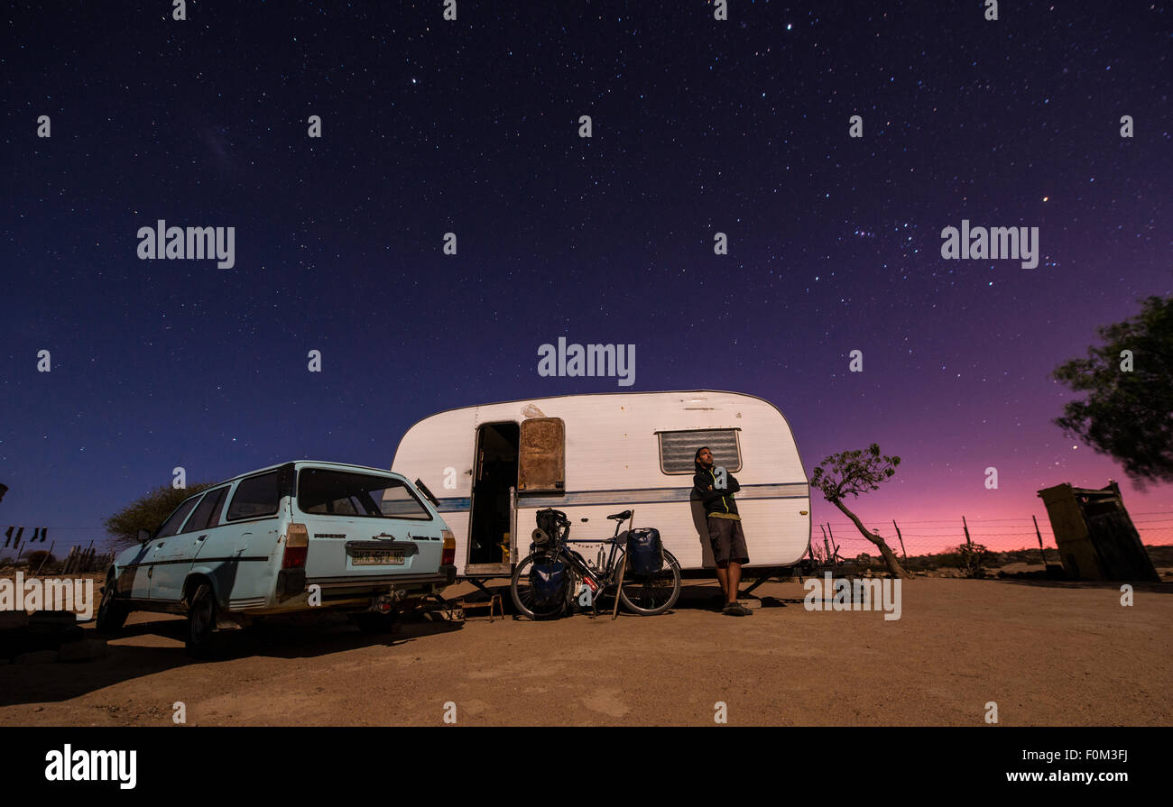 Stary nights, Northern Cape, South Africa - Stock Image