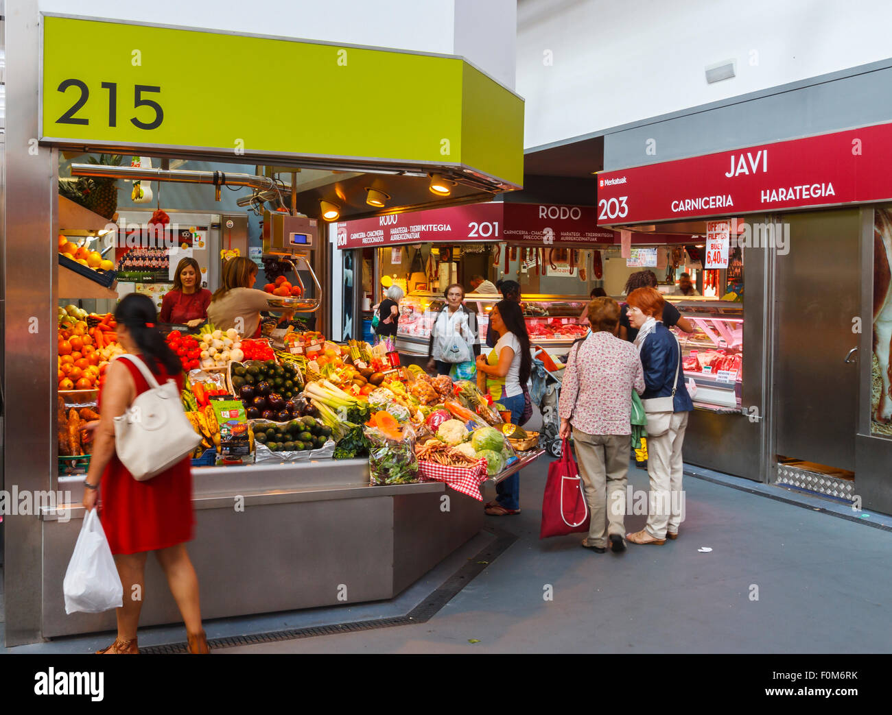 La Ribera Market. Bilbao. Biscay, Spain, Europe. - Stock Image