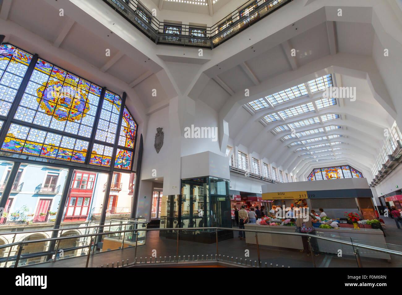 La Ribera Market. Bilbao. - Stock Image