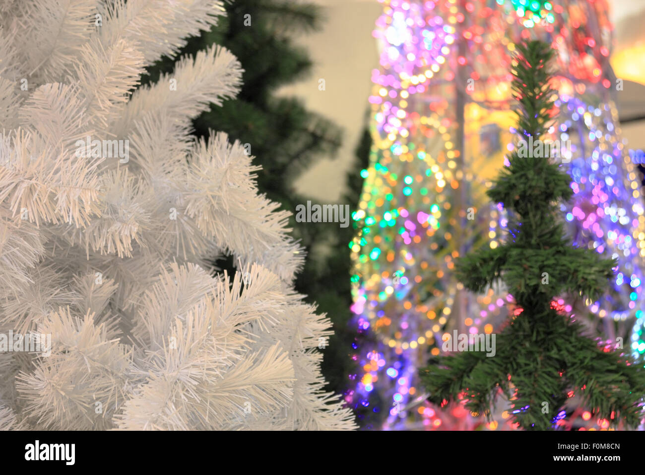 Types Of Artificial Christmas Trees.Artificial Christmas Trees Stock Photos Artificial