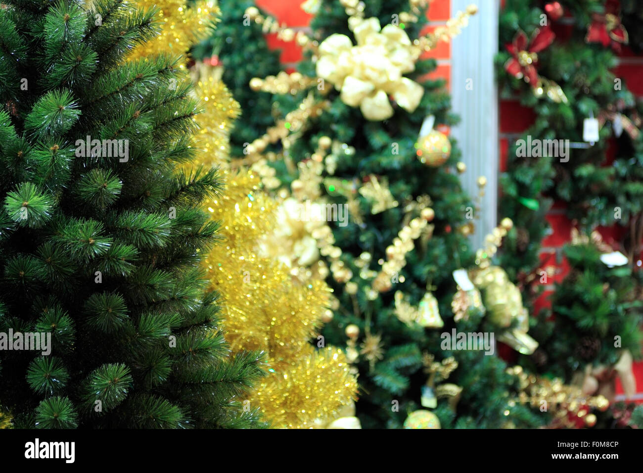 Magnificent Colored Artificial Christmas Trees Pattern - Coloring ...