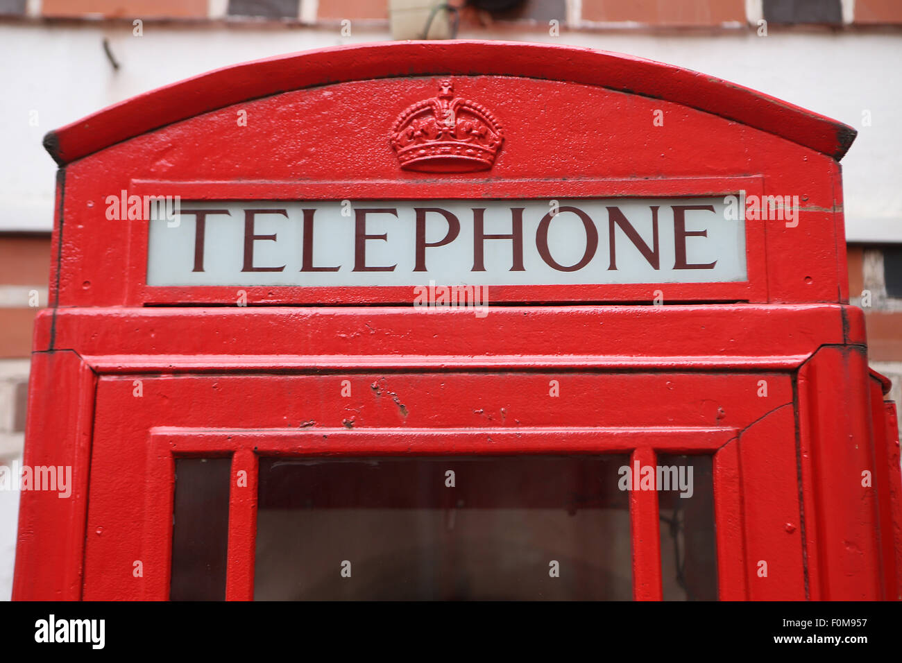 Old British telephone box - Stock Image