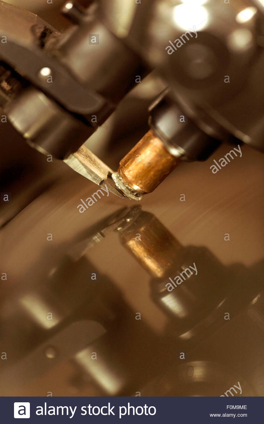 A diamond is cutted and polished, Overseas Diamonds company, Antwerp - Stock Image
