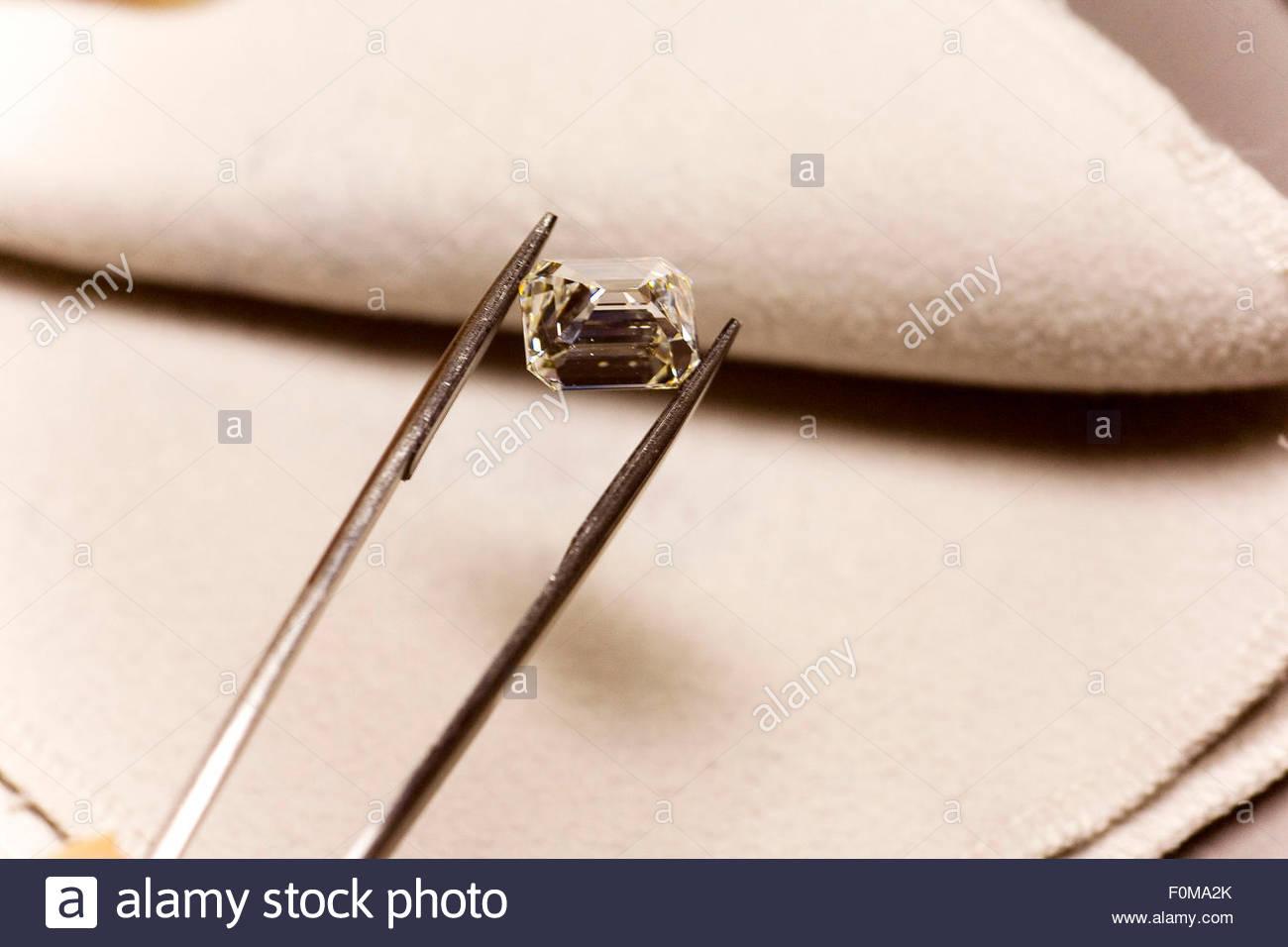A diamond, Antwerp. - Stock Image