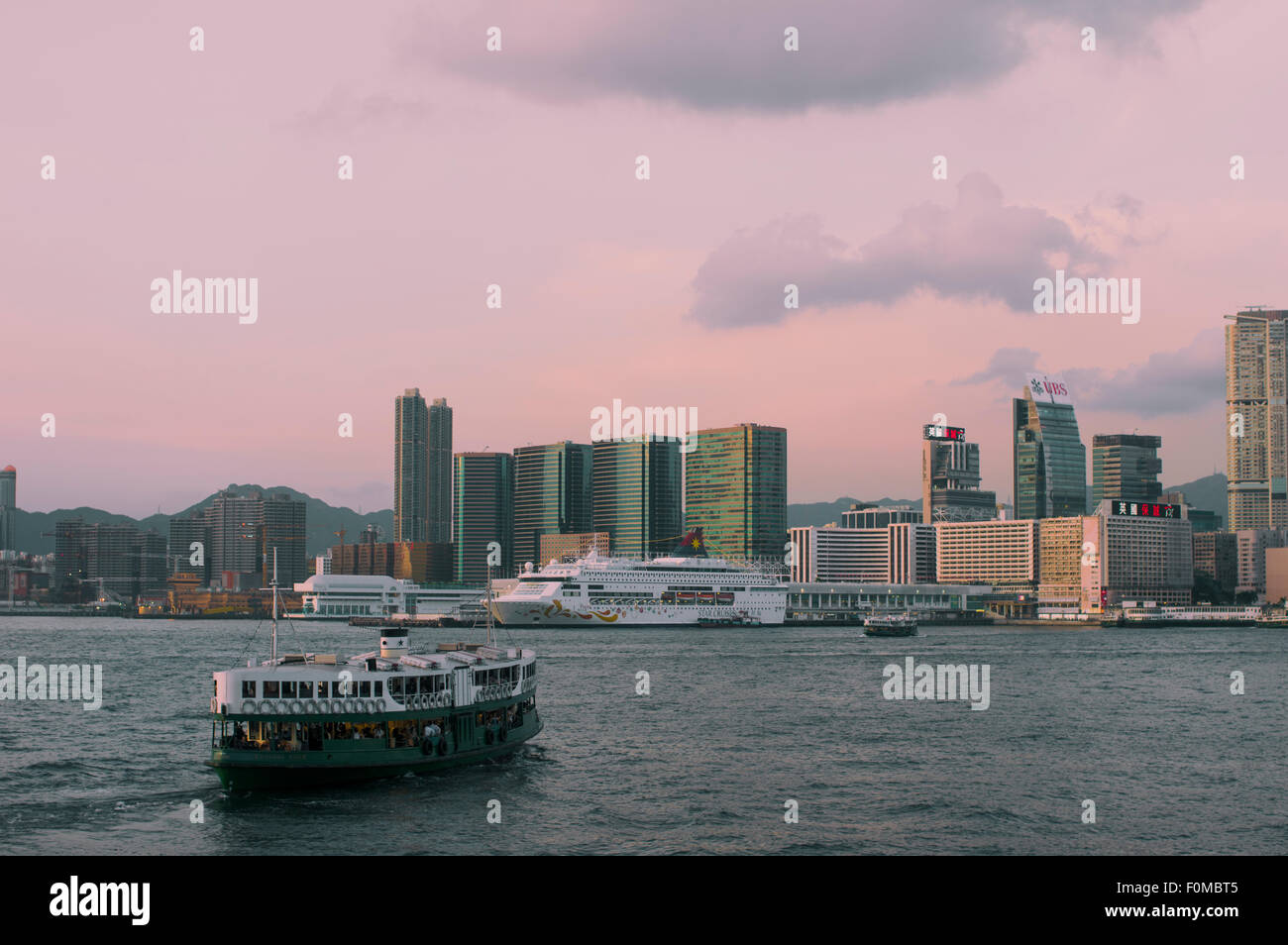 Star Ferry Central to Tsim Sha Tsui, Hong Kong. - Stock Image