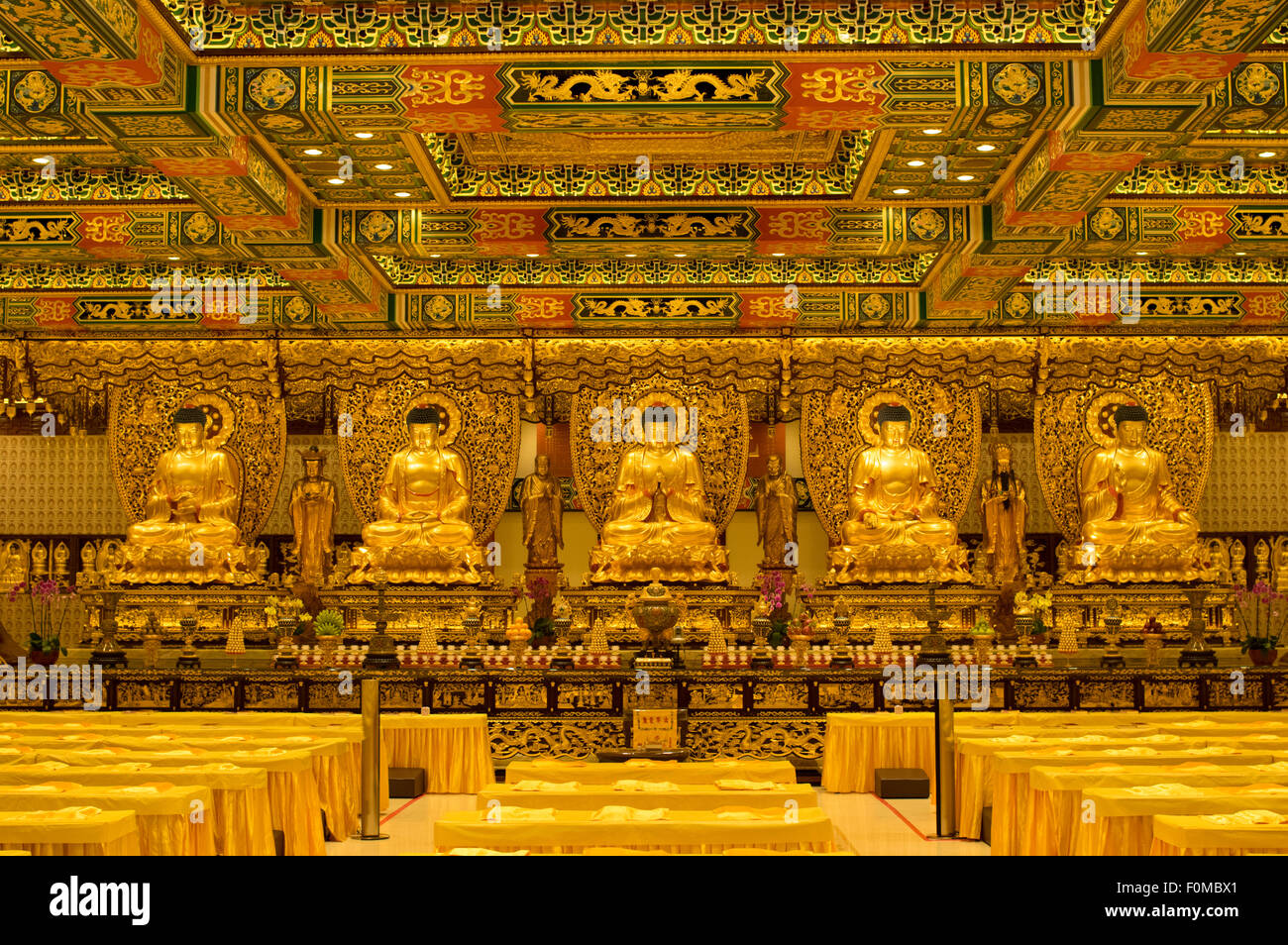 Po Lin Monastery, Lantau Island, Hong Kong Stock Photo